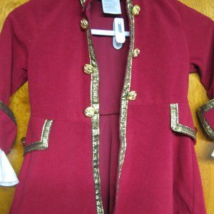 Boys Red Velvet with white Lace General Costume H